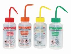 Безопасные бутылки для промывки, с клапаном сброса давления, ПЭНП, 500 мл, Этанол, NL/GR/IT/UK, зеленый, 500 мл
