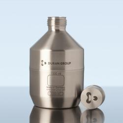 Бутылки и крышки с нержавеющей стали, GL 45, мл, DG крышка с нерж. стали (316L) с ПТФЭ уплотнительным диском, GL 45