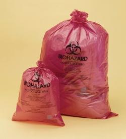 Мешки для утилизации Biohazard, ПП, красные, 38 мкм, 970 мм, 790 мм