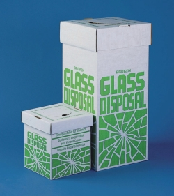Коробки для утилизации разбитого стекла, 200 x 200 x 250 мм, Коробки для утилизации разбитого стекла, настольная модель