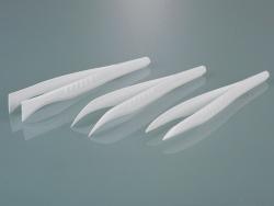 Одноразовый пинцет, PS, -, 130 мм, Заостренный: прямой, внутренний, рифленый кончик, 130 мм, -