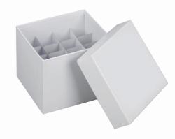 Криогенные картонные коробки, 145х145 с отделениями, 122 мм, Отделение для 36х15 мл пробирок
